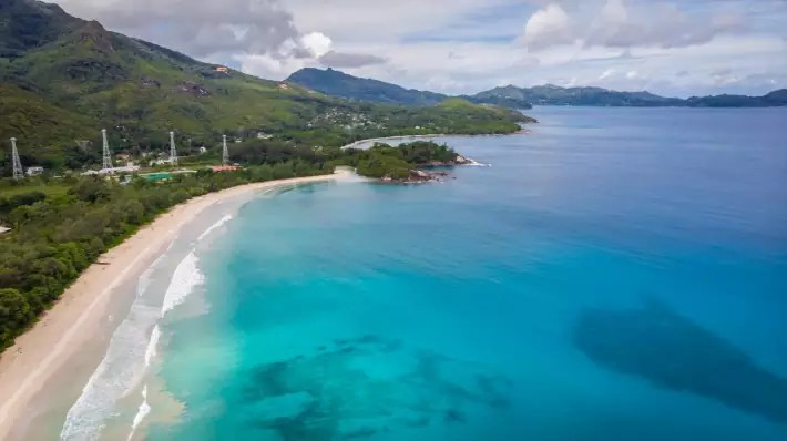 Grand Anse beach on Mahe islandof Seychelles - themagicoftraveling; Best drones for travel