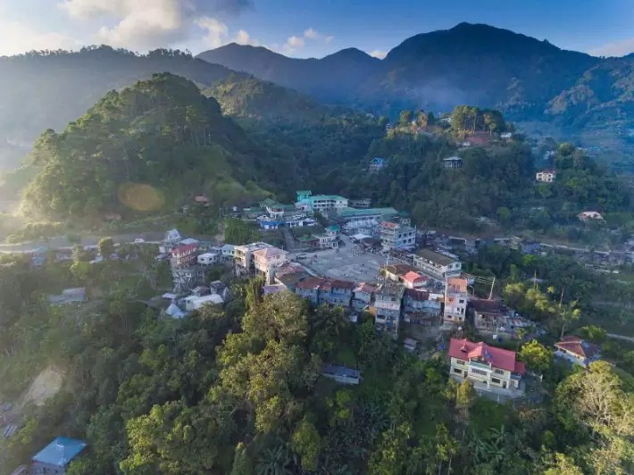 Mayoyao town near rice terraces - longestbusrides; Best drones for travel