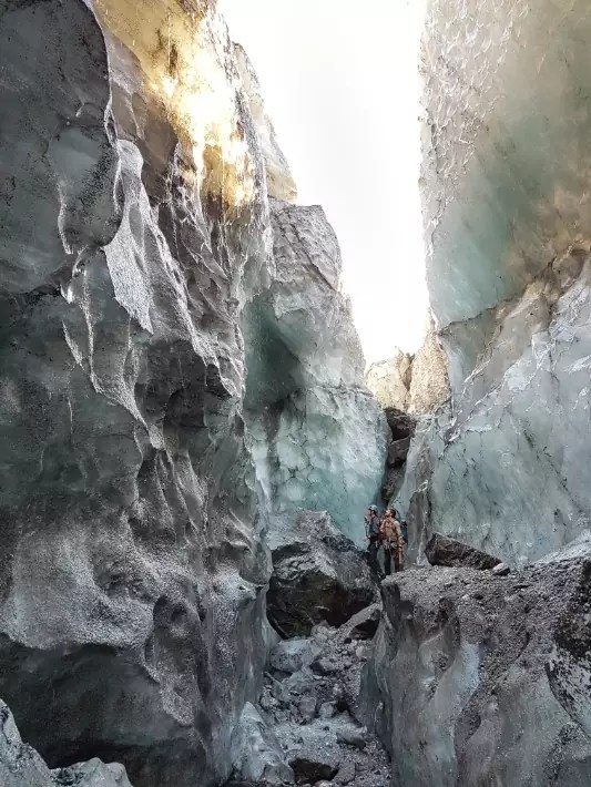 fox glacier ice wall, new zealand