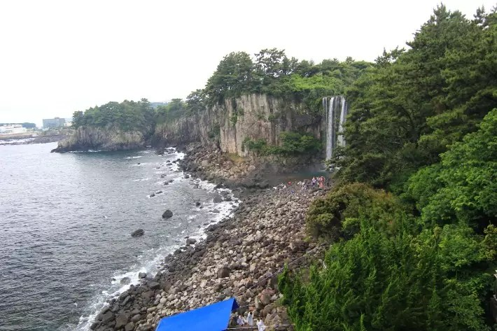 Jeongbang Falls (정방폭포) , things to do in jeju island; what to do in jeju island, jeju island attractions