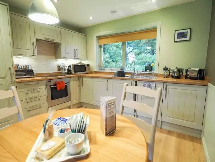 kitchen, glen nevis holidays luxury cottage, scotland itinerary
