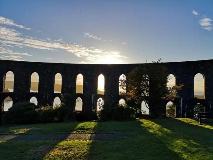 sunset McCaig's Tower, oban, scotland itinerary