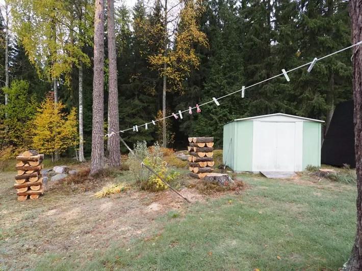 chop wood, garden, Nuuksio National Park