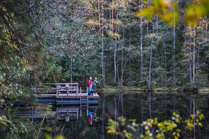 fishing lake, Nuuksio National Park