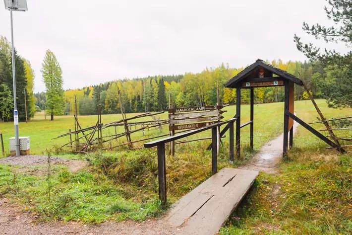 hiking start, green window Nuuksio National Park