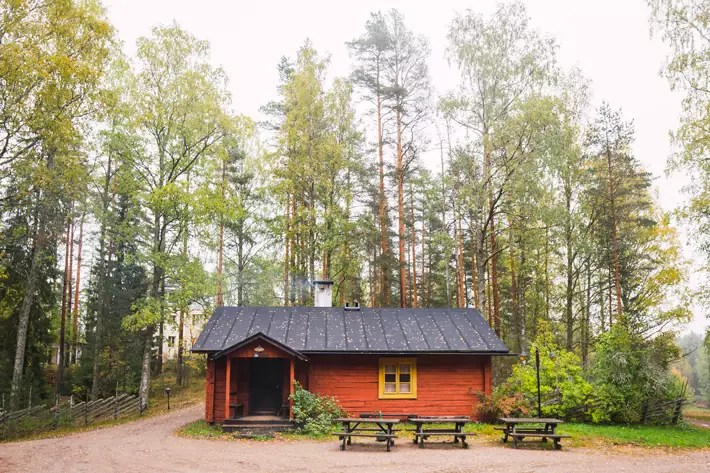 red wood cabin, Nuuksio National Park