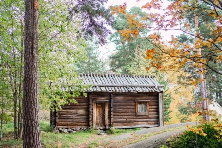 log house, Seurasaari Open-Air Museum, Helsinki
