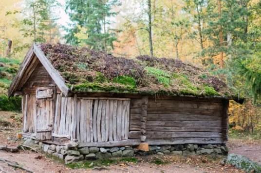 old cottage, Seurasaari Open-Air Museum, Helsinki,, Finland