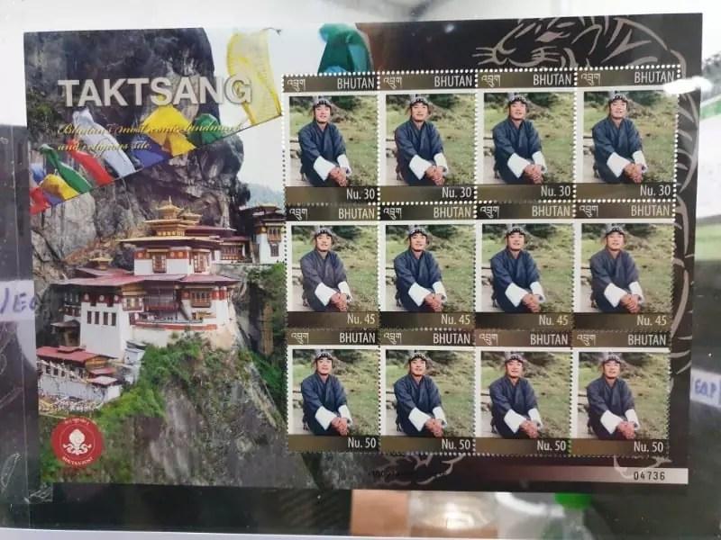customised stamps, bhutan