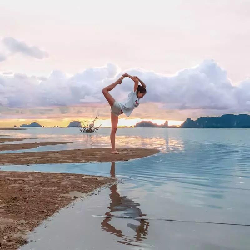 koh klang thailand krabi yoga seaside morning beautiful sky fitness goals