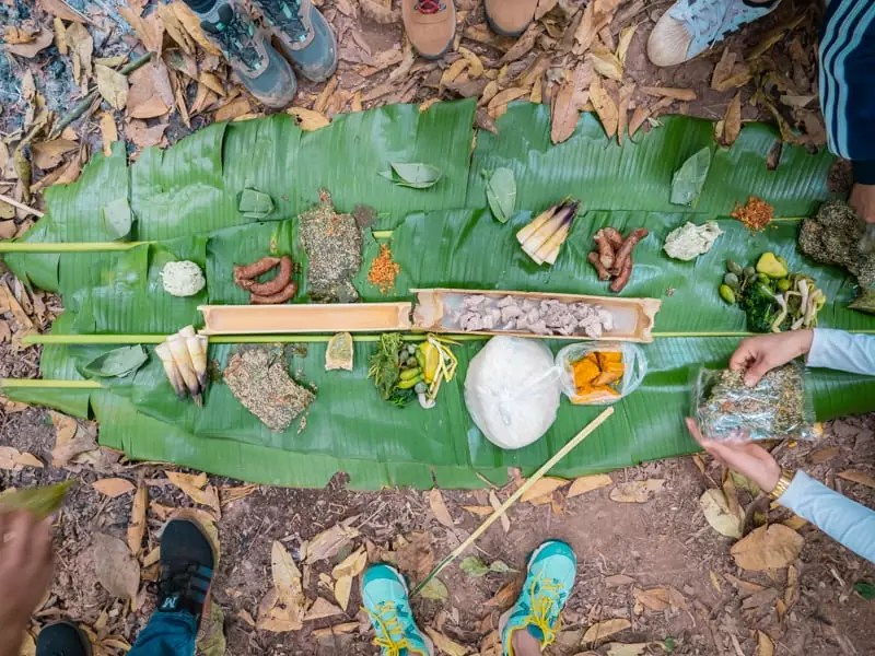 campfire lunch, trekking-Luang-Namtha-Laos-Homestay-Nam-Ha