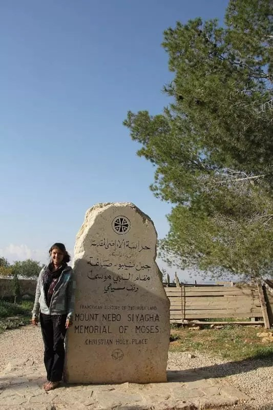 Mount Nebo Sign, things to do in amman jordan