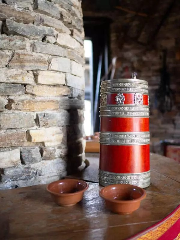 Palang-a-handcrafted-container-for-Ara-rice-wine-what-to-eat-in-bhutan