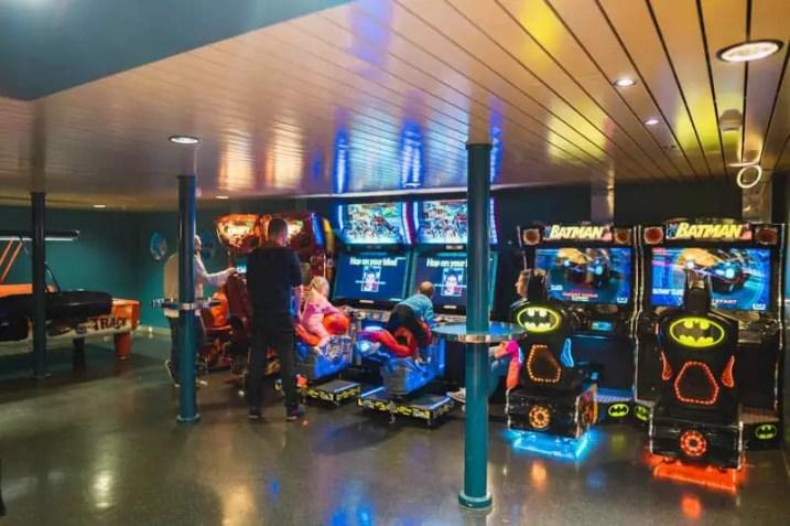 Tallink Silja ferry arcade, tallinn, estonia
