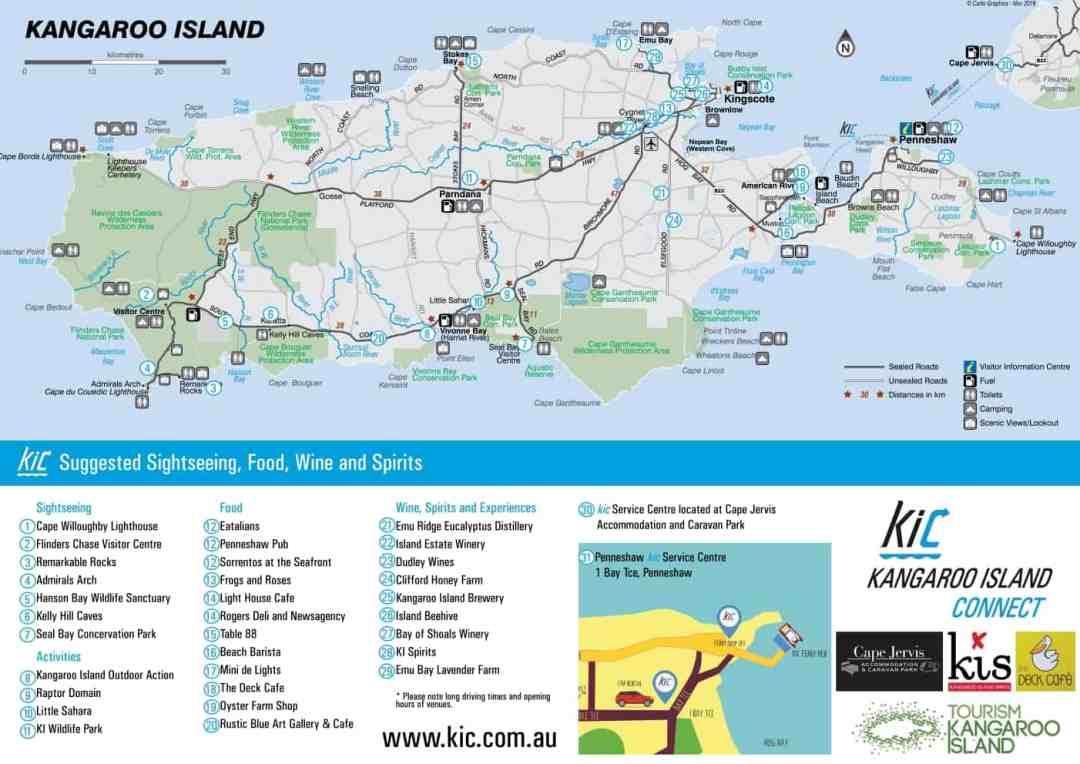 map of kangaroo island south australia