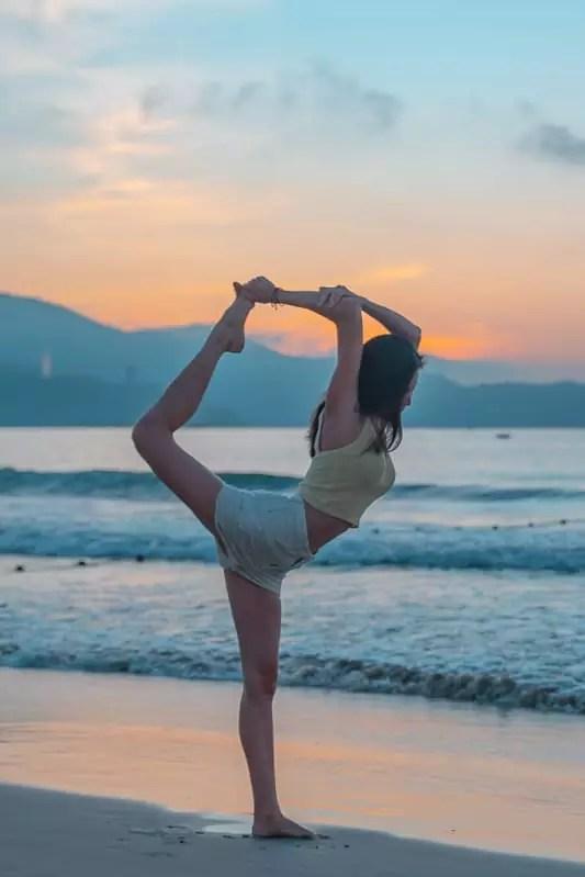 yoga, My Khe beach, Da Nang beach, Vietnam-2