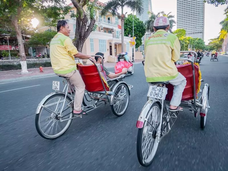 City tour, trishaw ride, cyclo, Things-to-do-in-Da-Nang-Vietnam