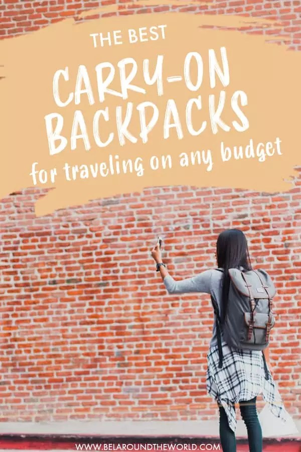 Looking for the best carry on backpack for international travel? Get my top carry on bags for cameras and more here. #internationaltravel #carryon #backpack #travelbackpack