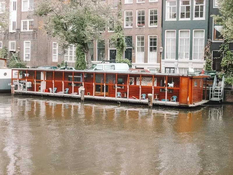 amsterdam floating restaurant, Poezenboot