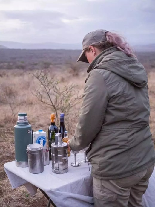sundowner sunset tea break, Rhino-River-Lodge-South-Africa-safari-game-drive