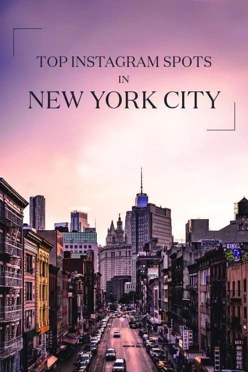 instagram spots NYC, new york city