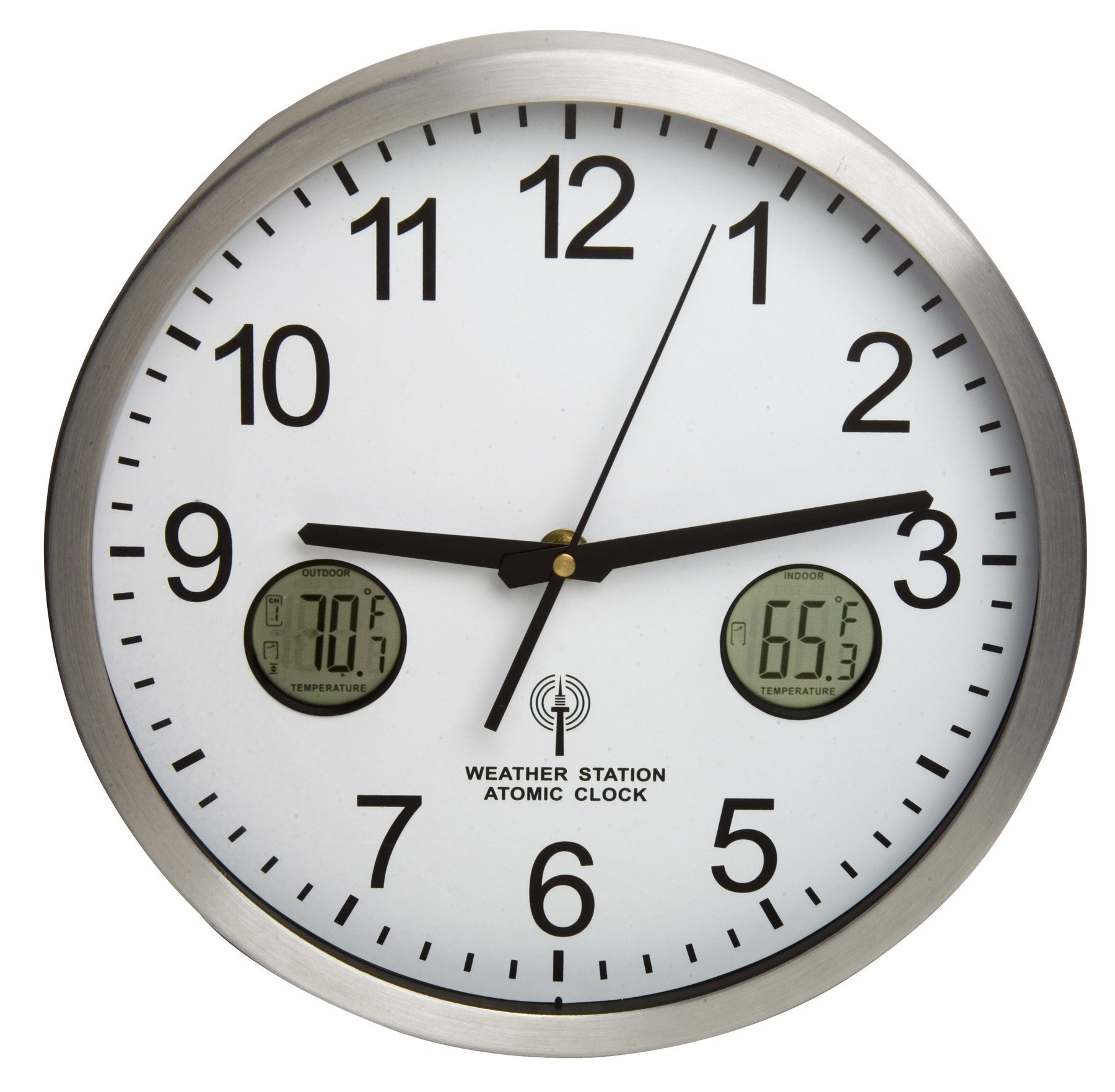 H B Durac Multi Function Atomic Clock With Indoor Outdoor