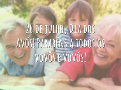 Mensagem de 'Feliz Dia dos Avós' para WhatsApp 6