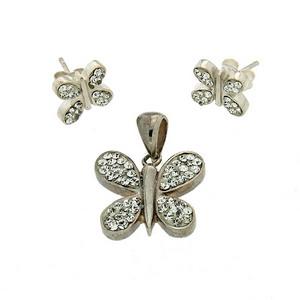 Set din argint cu pietre Swarovski