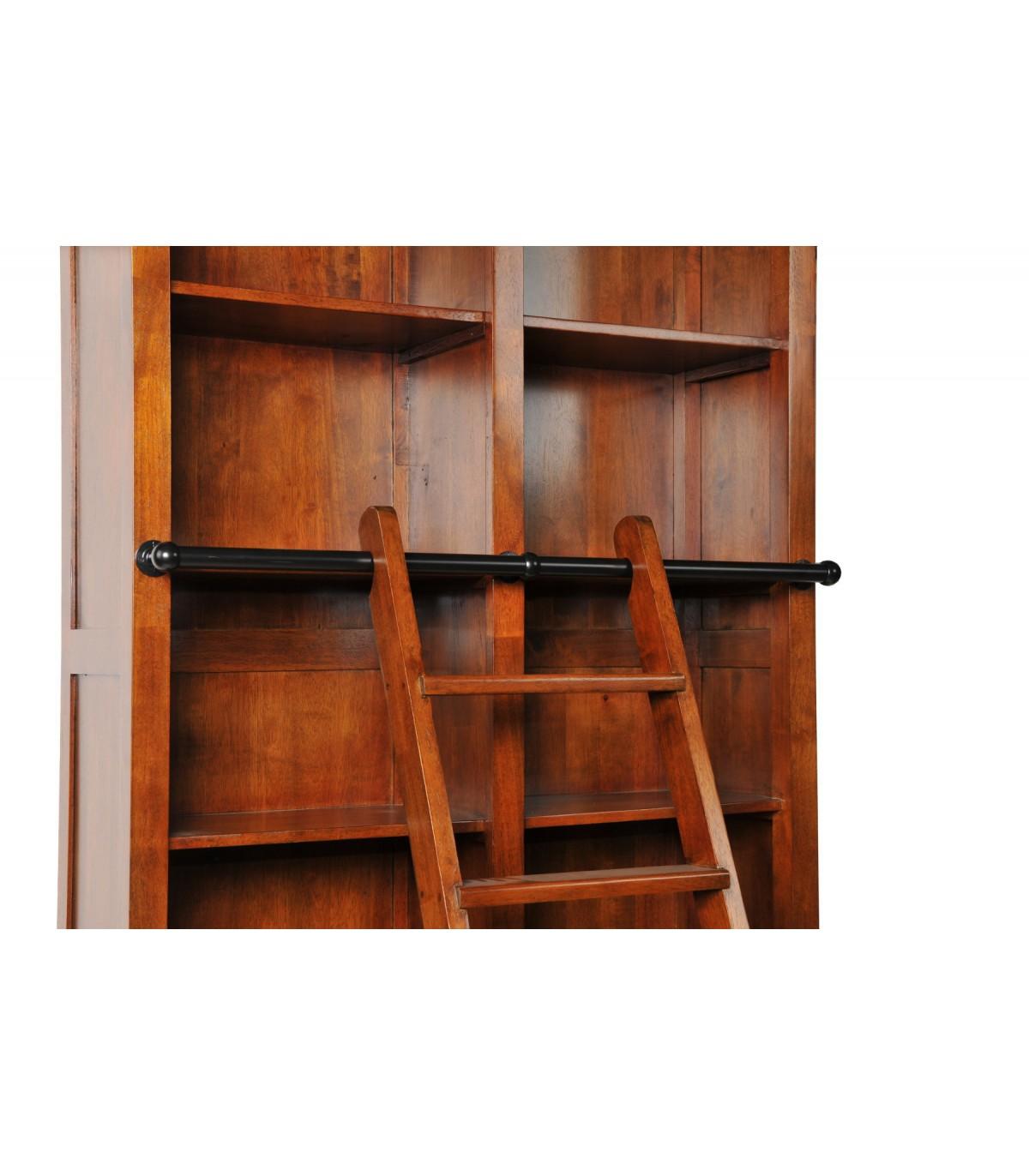 bibliotheque echelle bois classique meuble hevea beldeko