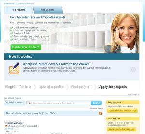 Freelancermap web para freelancers