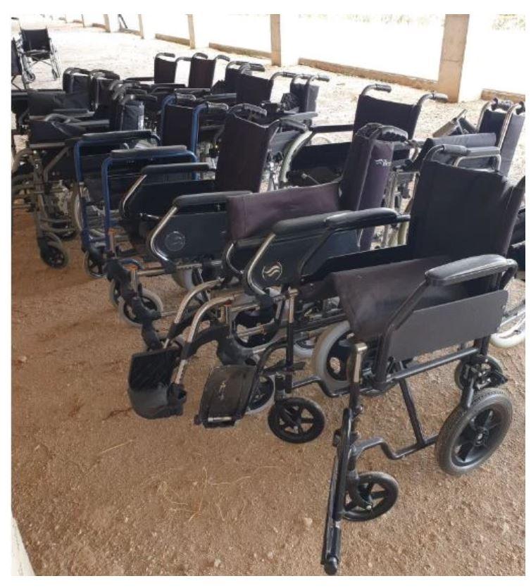 Donaciones de sillas de ruedas necesarias.
