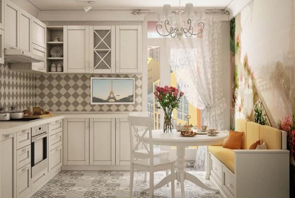 Диваны на кухню в стиле прованс: виды, правила выбора, фото