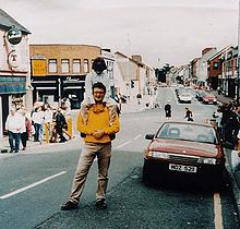 Omagh town centre seconds before bomb went off. Spanish father and son picture miraculously survived the attack