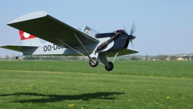 صورة تحطم طائرة ذات مقعدين من بلجيكا