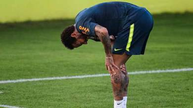 Photo of لحظة اصابة نيمار وخروجه من تدريبات منتخب البرازيل