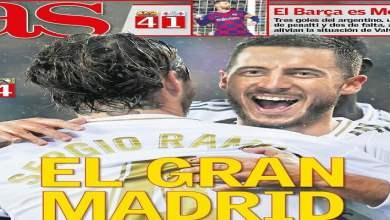 Photo of رباعيات برشلونة و ريال مدريد تتصدر أغلفة الصحف