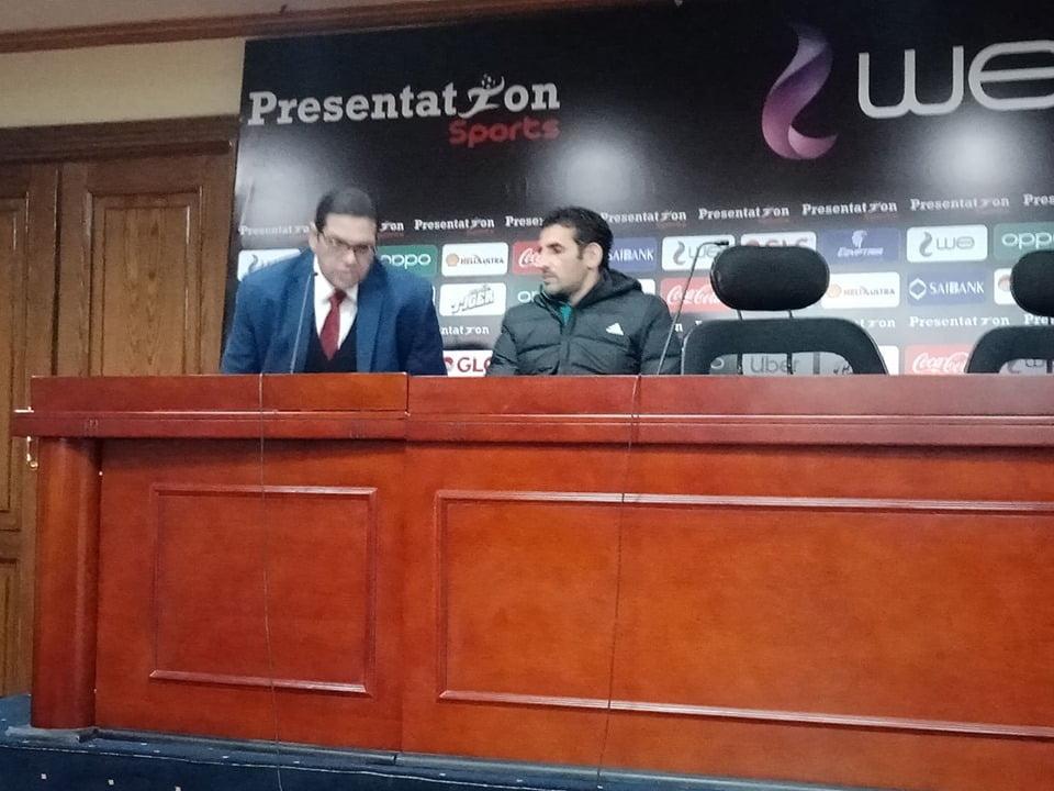 مدرب بني سويف في المؤتمر الصحفي