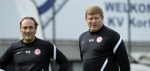 Vanhaezebrouck and Vanderheaghe in their Kortrijk days. (pic - voetbalnieuws.be)