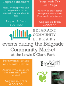 August events flyer - august 8, 15 & 29