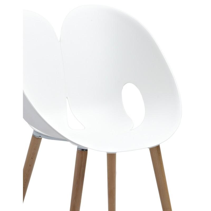 Chaise Design Blanche NADEGE BELHOME