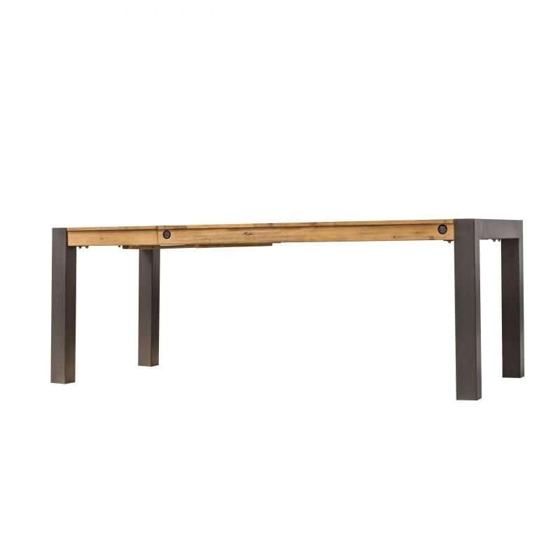 table repas style industriel 160cm avec allonge atelier