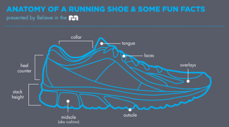 Anatomy of a Running Shoe