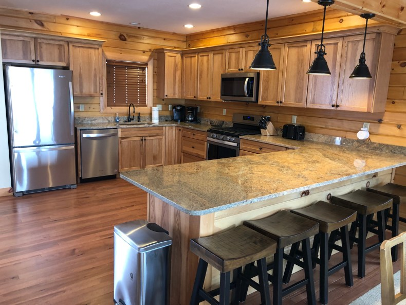 The Believe In Tomorrow House at Deep Creek Lake kitchen