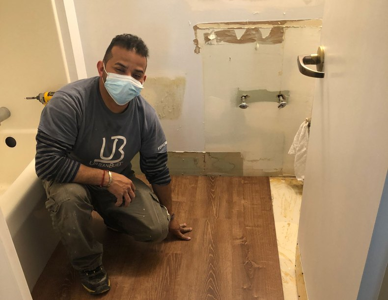 Believe In Tomorrow Corporate Partner Urban Built remodeling bathrooms at The Children's House At Johns Hopkins