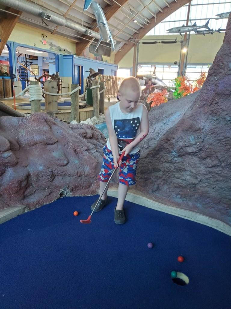 a critically ill child enjoying a respite trip