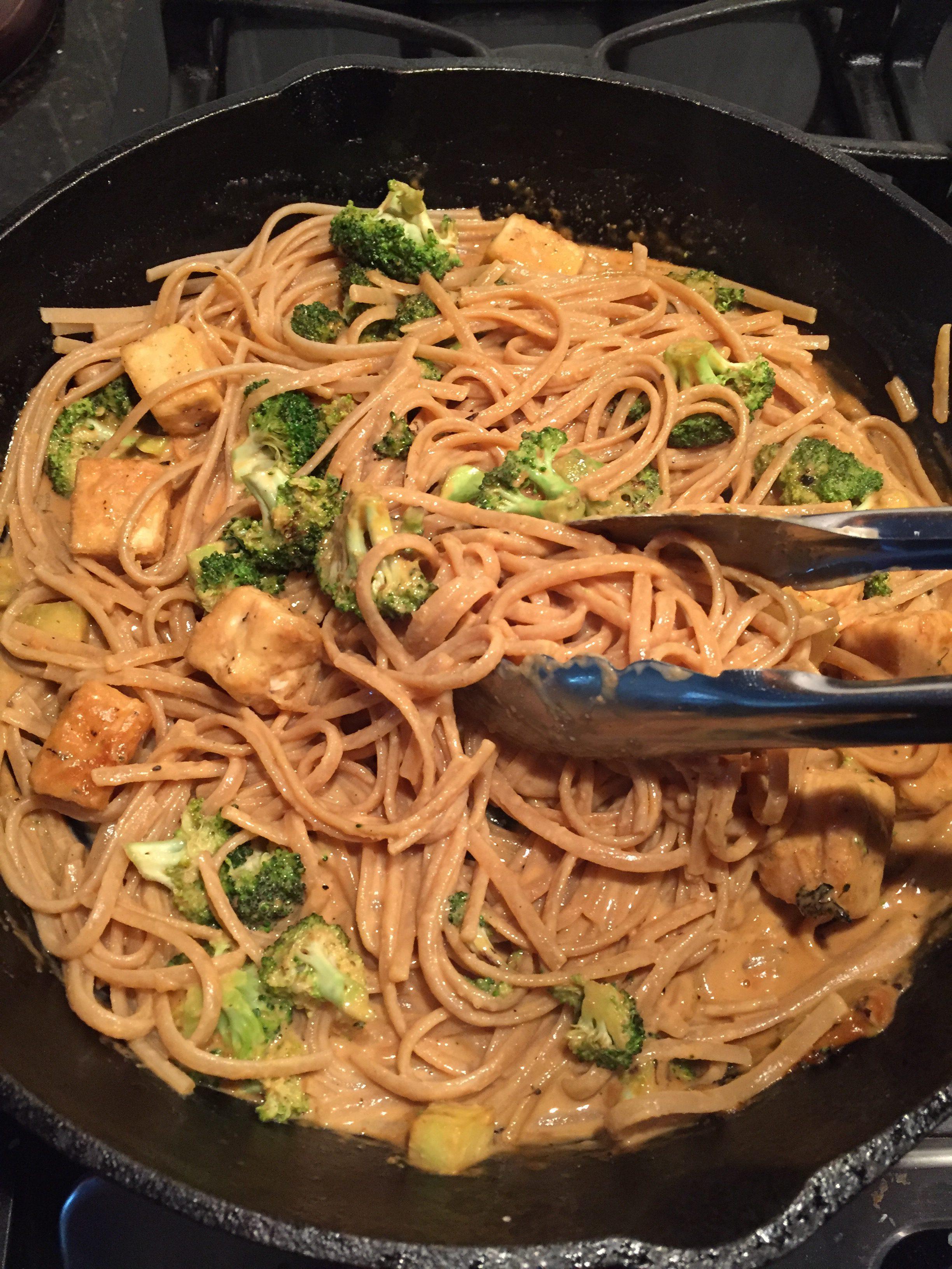 Vegan Szechuan cashew Noodles believeinvegan.com