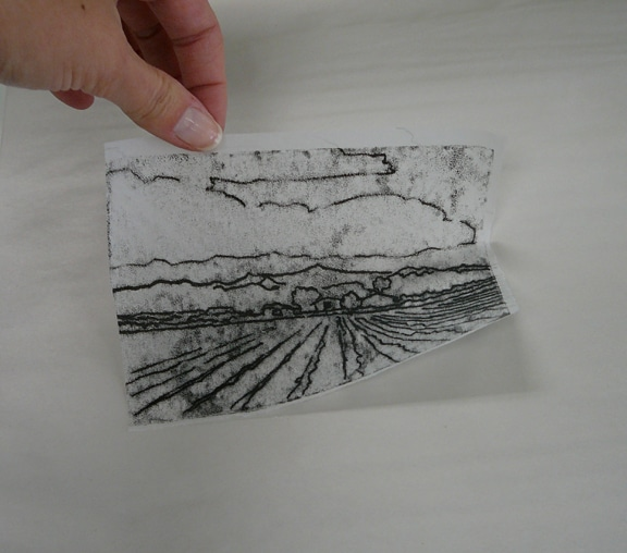 A trace monotype pulled from another trace monotype; twins in reverse