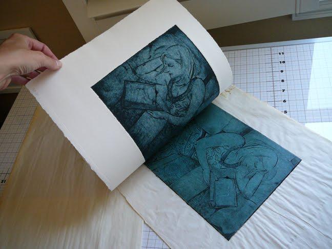 collagraph printmaking inking methods