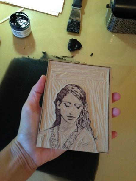woodcut-portrait-inking