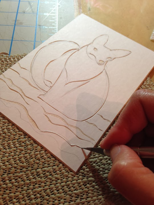line style collagraph